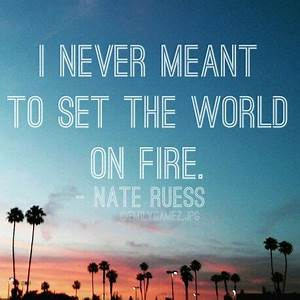 Photography edi... Nate Ruess Song Quotes