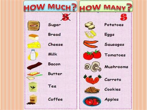 How Much And How Many