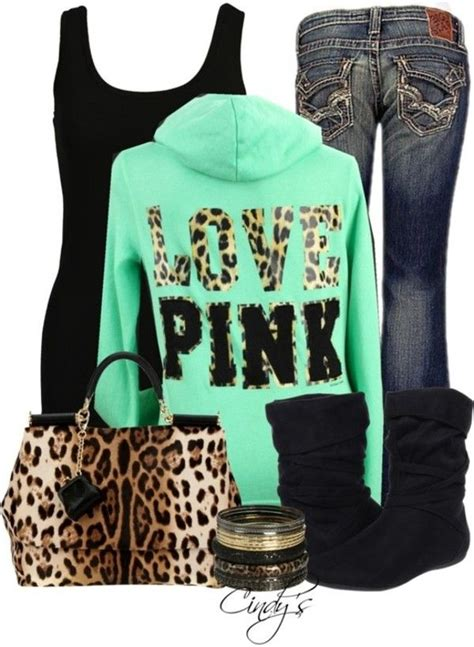 Victoria Secret Pink Outfits | jeans clothes purse victoriau0026#39;s secret bag shoes jacket leopard ...
