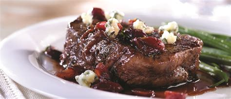 Place beef on rack set over large rimmed baking sheet. Beef Tenderloin with Cherry Port Sauce & Gorgonzola