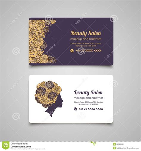 beauty salon luxury business card design template