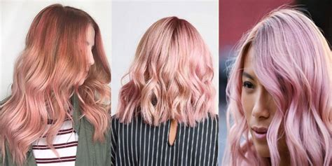 All The Ways To Rock Rose Gold Hair Color This Summer