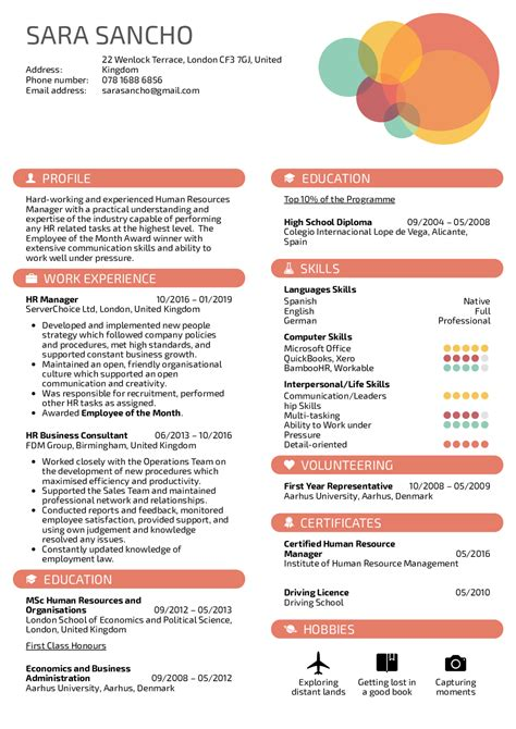 resume examples  real people hr manager resume template