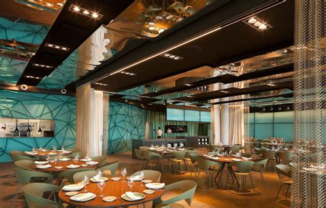 gold and turquoise restaurant decor in barcelona interiorzine