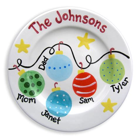 personalized christmas plate family ornaments