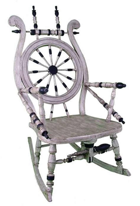 spinning wheel rocking chair american nautical chair