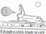 Shuttle Space Endeavour Coloring Transbordador Ausmalbilder Spaceship Kleurplaat Espacial Colorear Coloriage Vaisseau Spatial Kleurplaten Dibujo Landung Atterraggio Drawing Colorare Landing sketch template