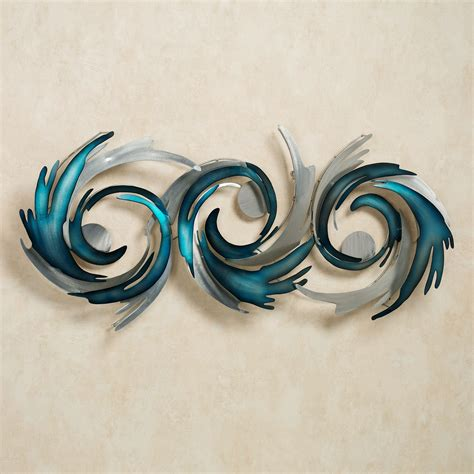 turquoise home accents metal wall sculpture by jasonw studios