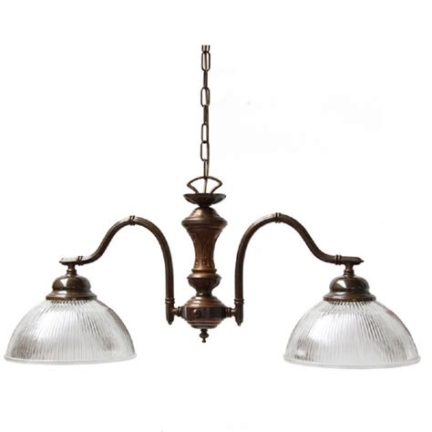 Two Light Kitchen Island Ceiling Pendant For Rustic