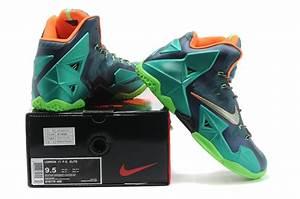 Famous Discount Nike Lebron James 11 Shoes Blue Green ...