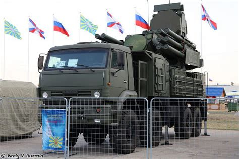 pantsir s2 range cannon missile air defense system