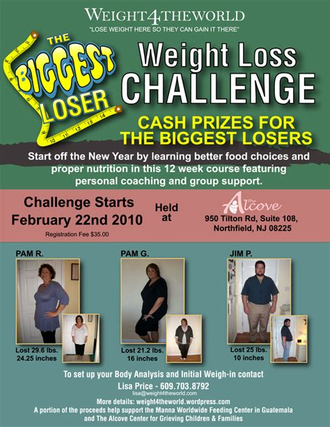 weight loss challenge flyer template loser weight loss challenge weight4theworld s