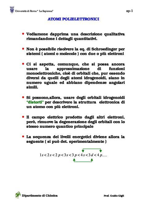 dispense di chimica atomi polielettronici dispense