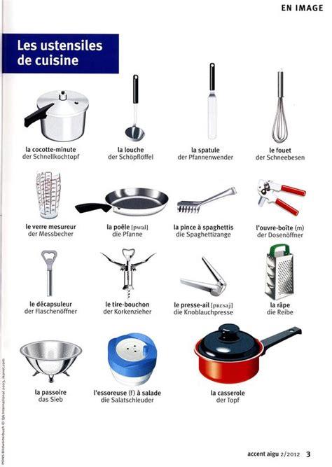 ustensiles cuisine les ustensiles de cuisine vocabulaire cuisine manger