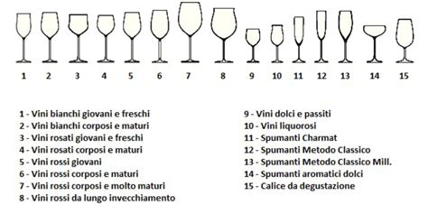 tipologie di bicchieri le diverse tipologie dei bicchieri da alessandra