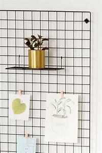 Grille Murale Deco : wire wall grid shelf pinterest tag res murale grille et murale ~ Teatrodelosmanantiales.com Idées de Décoration