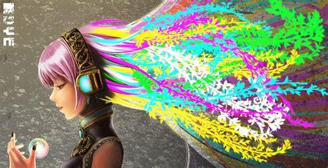 Colorful Anime Wallpaper - colorful artwork megurine luka vocaloid