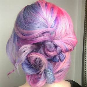 Split Personality Hair in Pastel Pink and Purple - Hair ...