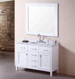 Bathroom Vanities Without Tops Sinks by Adorna 48 Inch Single Sink Bathroom Vanity Set Carrera