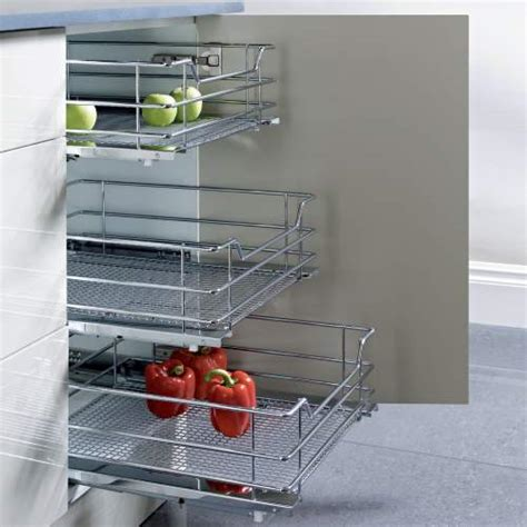 pull out trays for kitchen cabinets vauth sagel pull out chrome wire mesh basket for hinged 9182
