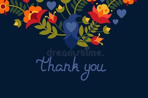 grazie dei fiori testo grazie cartolina d auguri con l uccello illustrazione