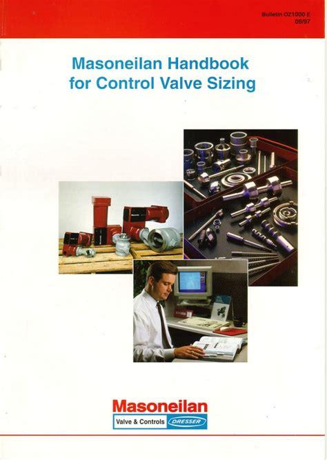 dresser masoneilan valve handbook valvula masoneilan handbook for valve sizing