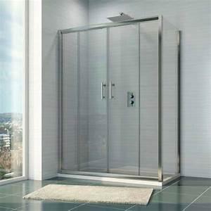 1400mm X 700mm Double Sliding Shower Door  U0026 Side Panel