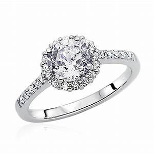 10mm rhodium plated silver wedding ring cz solitaire halo With rhodium wedding rings