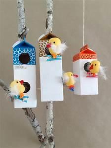 Make Your Own Milk Carton Birdhouse Village Handmade