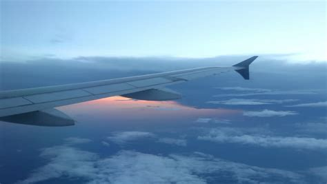 Peaceful View From Plane Window Stock Footage Video 100