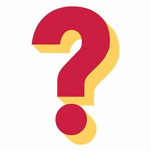 Red and yellow 3d question mark - Transparent PNG & SVG vector