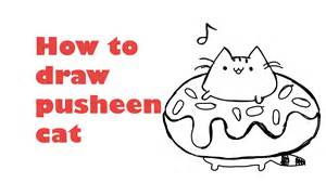 Pusheen The Cat Coloring Pages How To