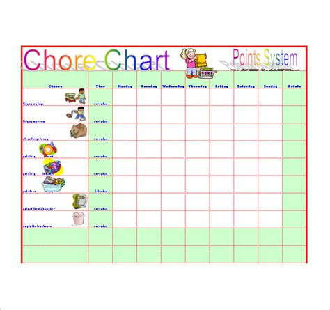 Chore List Template Chore List Template 10 Free Word Excel Pdf Format