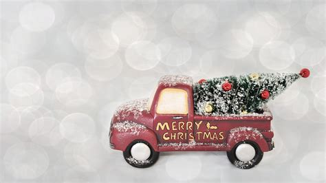 merry christmas red truck  photo  pixabay