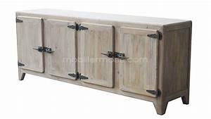 Buffet Bas Industriel : buffet bas raymond en bois 4 portes mobilier moss ~ Teatrodelosmanantiales.com Idées de Décoration