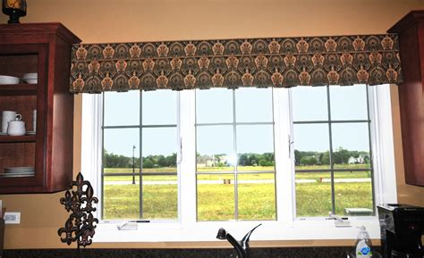 drapery scarf ideas shorewood kitchen valance window treatments plainfield