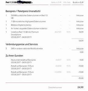 Rechnung Vodafone : betreff vodafone rechnung zu hoch vodafone community ~ Themetempest.com Abrechnung