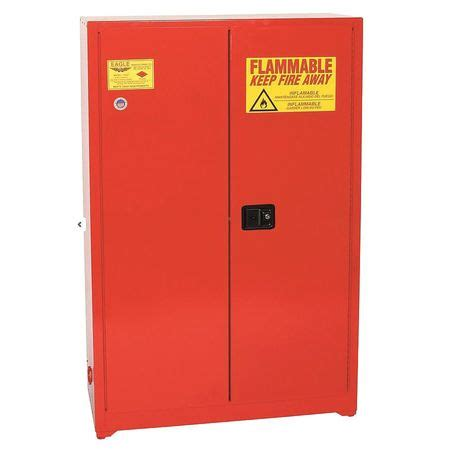 eagle flammable safety cabinet 45 gal red 4510 red