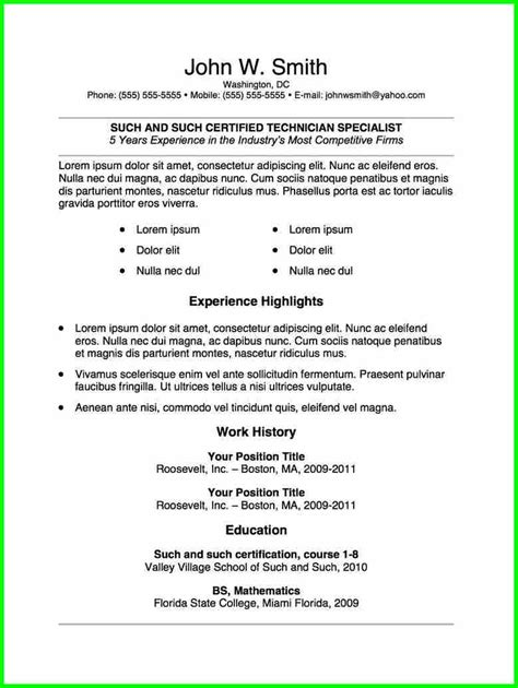 free resume templates microsoft word 2010 resume and