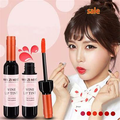 Lip Korean Lipstick Tint Makeup Wine Brand