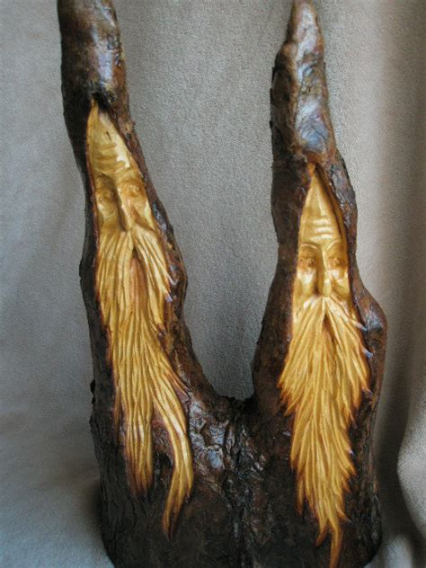 Make Cypress Knee Ls by Two Faces Carved Cypress Knee Wood Spirit