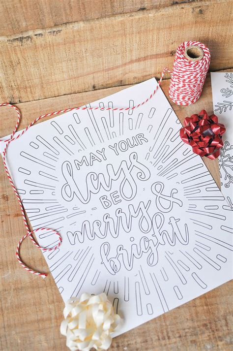 printable white christmas adult coloring pages