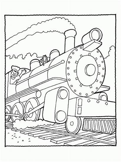 Train Steam Drawing Line Coloring Pages Getdrawings