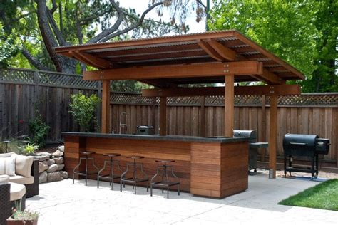 Backyard Saloon - 20 creative patio outdoor bar ideas you must try at