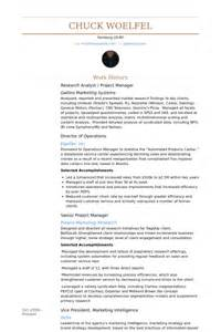 project analyst resume template research analyst resume sles visualcv resume sles database