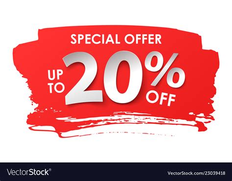 Discount 20 percent in paper style Royalty Free Vector Image