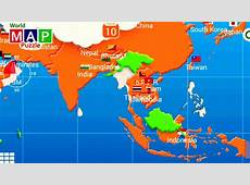 Map of Asia and the Countries in Asia puzzle it Kids