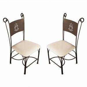 galette pour chaise fer forge advice for your home With deco cuisine avec table chaise design