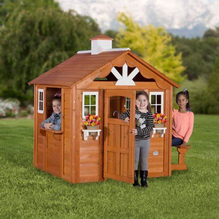 backyard discovery playhouse backyard discovery summer cottage wooden cedar playhouse