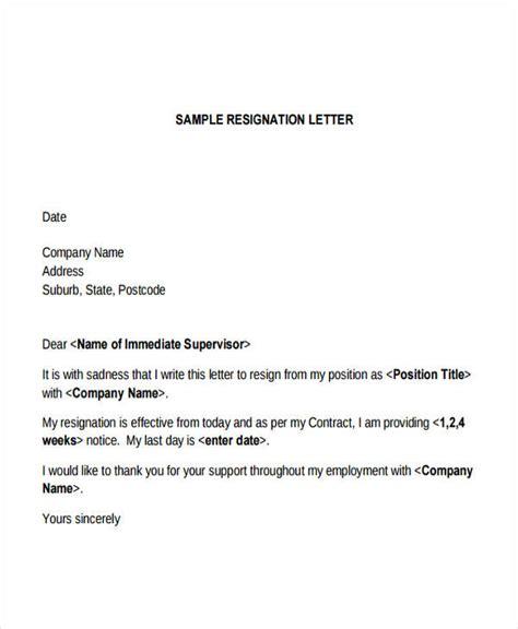 resignation letter sle resignation letter format marvelous sle immediate 28